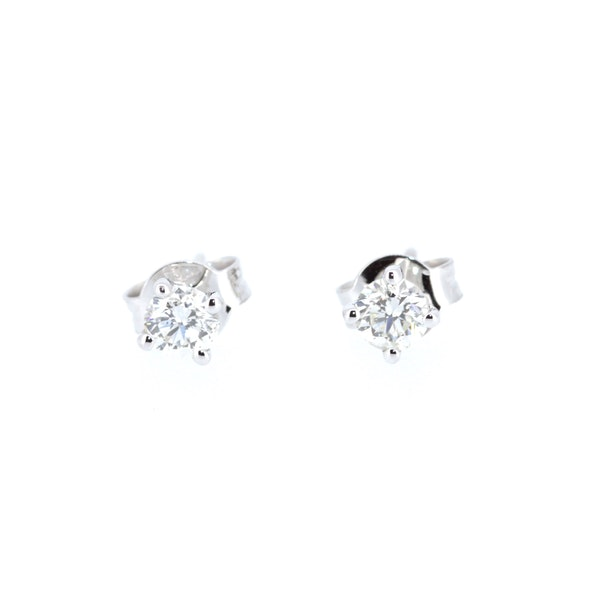 Solitaire Diamond Studs. S.Greenstein - image 1