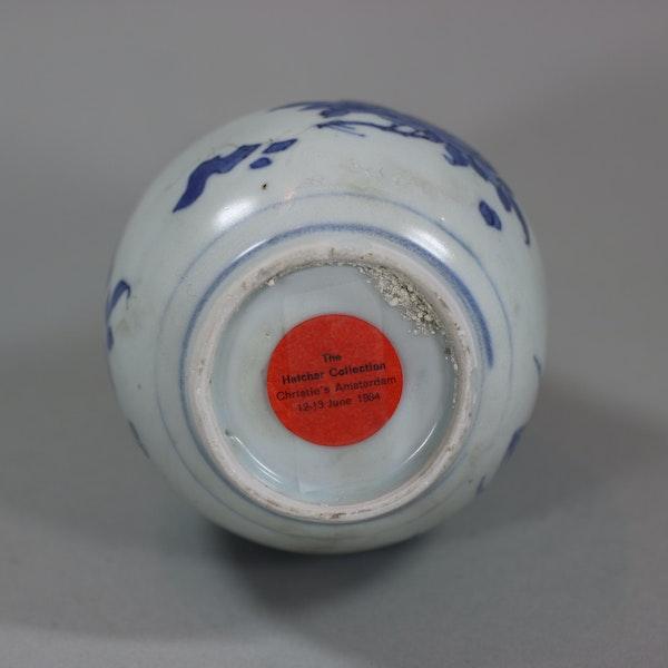 Small Chinese blue and white 'Hatcher Cargo' bottle vase, Shunzhi period (1644-46) - image 6