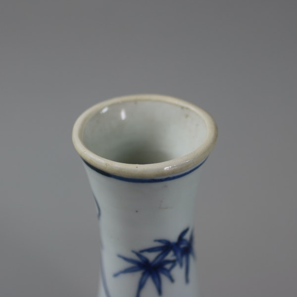 Small Chinese blue and white 'Hatcher Cargo' bottle vase, Shunzhi period (1644-46) - image 4