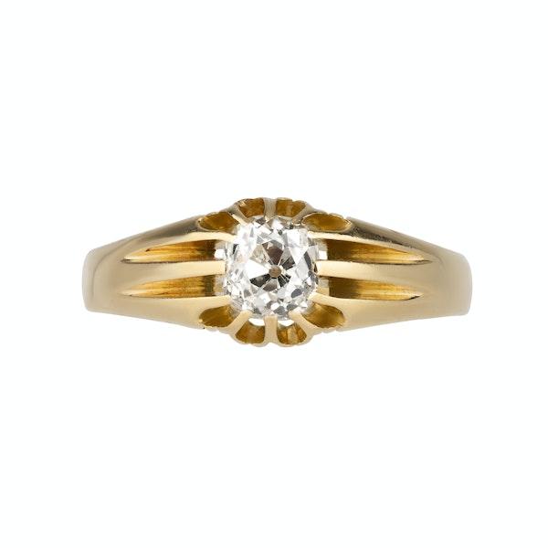 Diamond solitaire ring - image 1