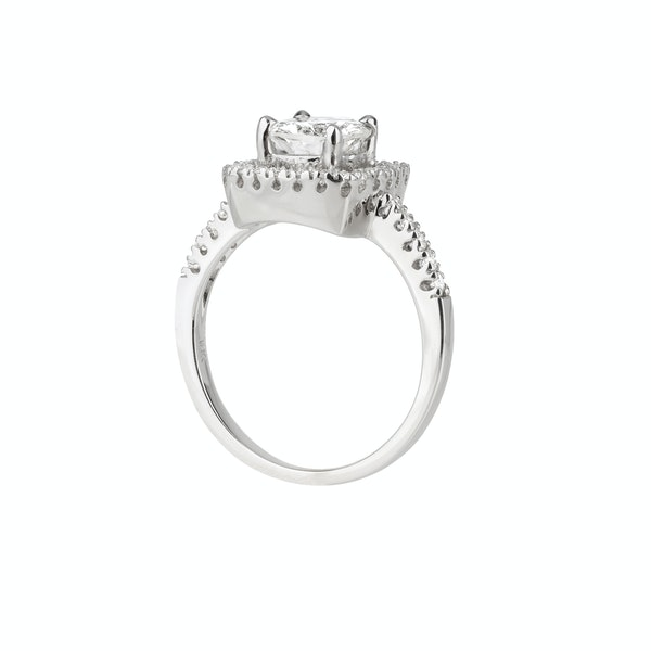 Diamond cluster ring - image 2