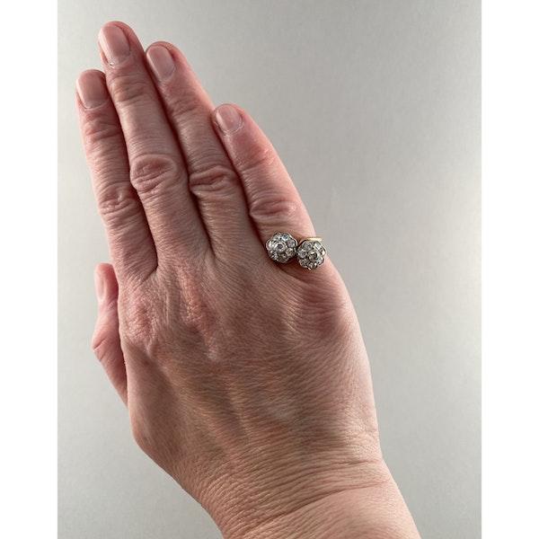 1950's, 18ct Yellow Gold and Diamond stone set Ring, SHAPIRO & Co since1979 - image 3