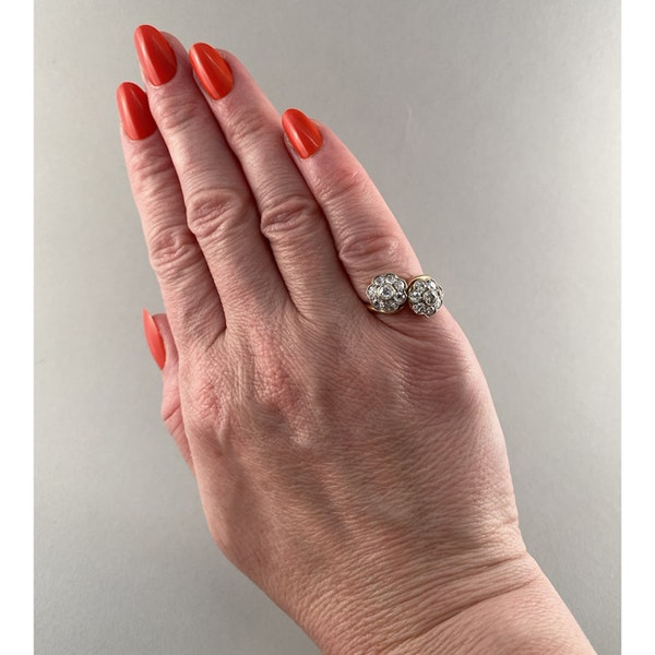 1950's, 18ct Yellow Gold and Diamond stone set Ring, SHAPIRO & Co since1979 - image 4