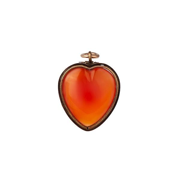 Georgian cornelian heart pendant - image 1