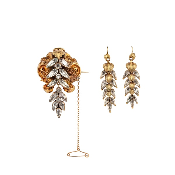 Victorian rock crystal gold suite - image 1