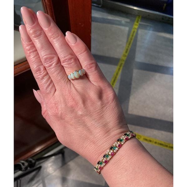 Date: London 1938, 9ct Yellow Gold, Opal stone set Ring, SHAPIRO & Co since1979 - image 7