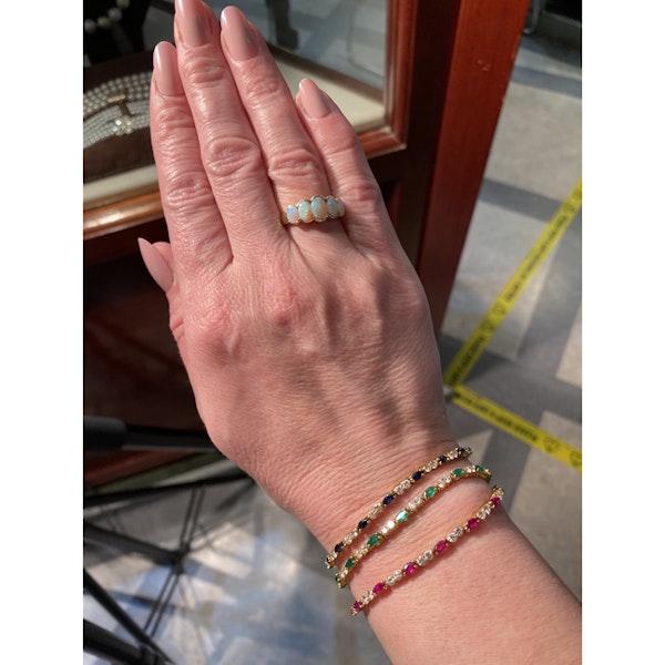 Date: London 1938, 9ct Yellow Gold, Opal stone set Ring, SHAPIRO & Co since1979 - image 8