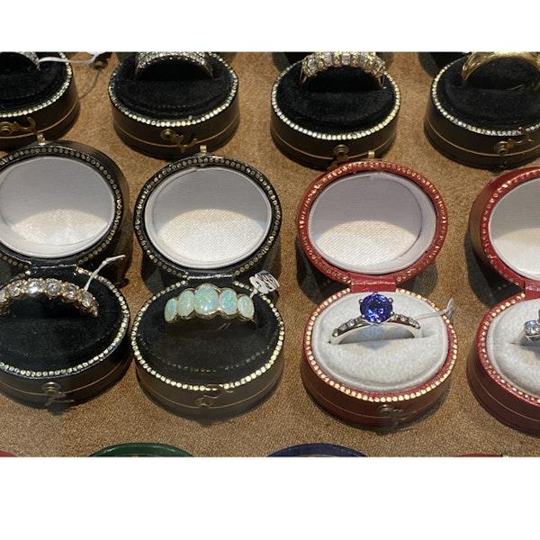 Date: London 1938, 9ct Yellow Gold, Opal stone set Ring, SHAPIRO & Co since1979 - image 9