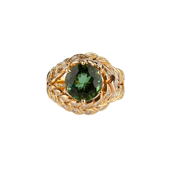 Peridot and Diamond Ring by Sterle - image 1