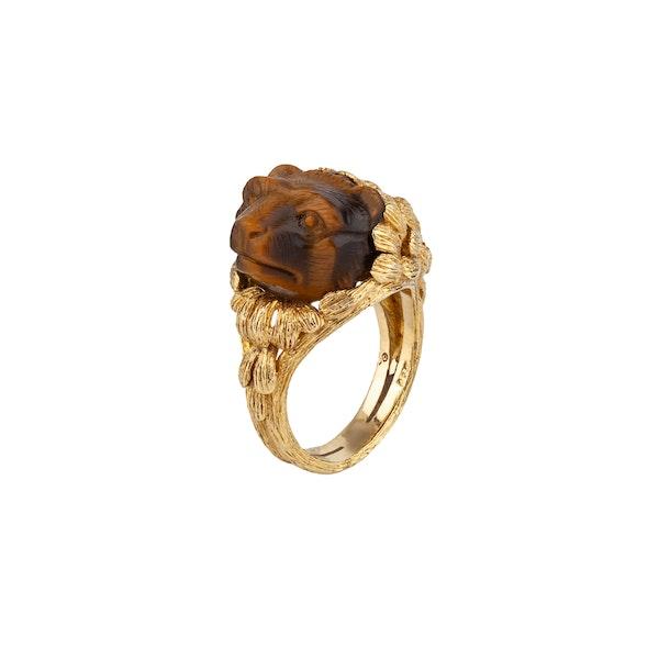 Tigers Eye animal Ring - image 1