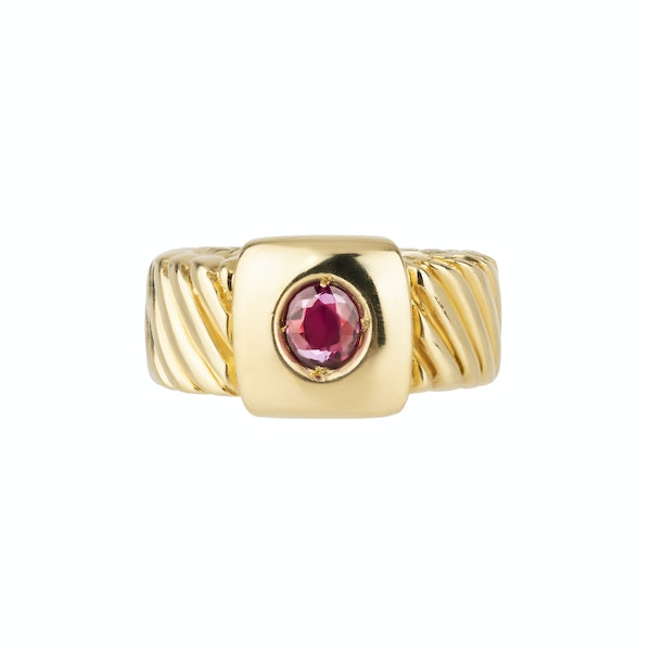 18 ct gold and ruby Annabel Jones ring - image 1