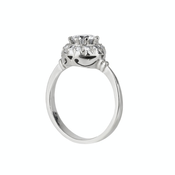 Art Deco round diamond cluster ring - image 1