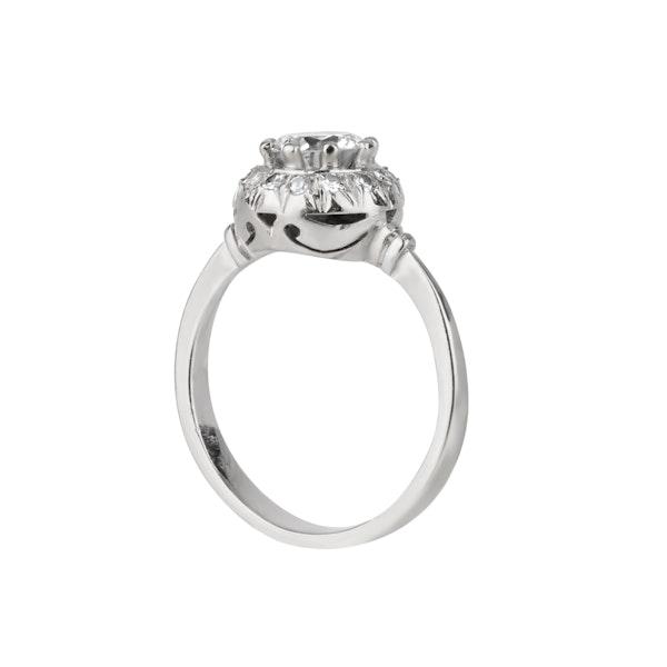 Art Deco round diamond cluster ring - image 1