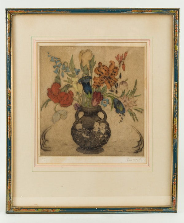 ELYSE ASHE LORD ARABIAN FLOWERS IN A CHINESE VASE - image 1