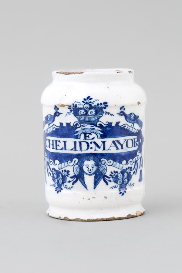 A DUTCH BLUE & WHITE DELFT APOTHECARY JAR , 18TH CENTURY - image 1