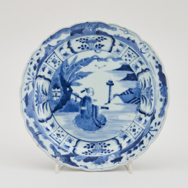 A JAPANESE BLUE AND WHITE ARITA DISH, SECOND HALF OF THE 17TH CENTURY - image 1