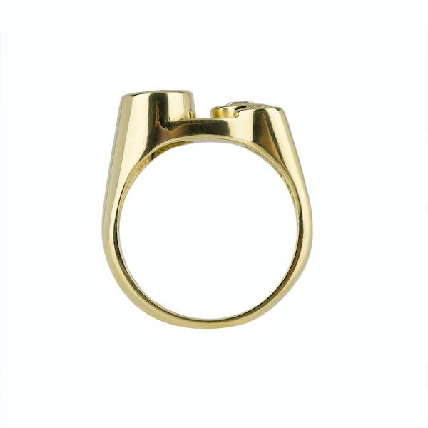 70'S Sapphire and Diamond Ring - image 4