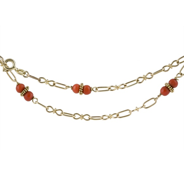 Coral and Gold Chain - image 2