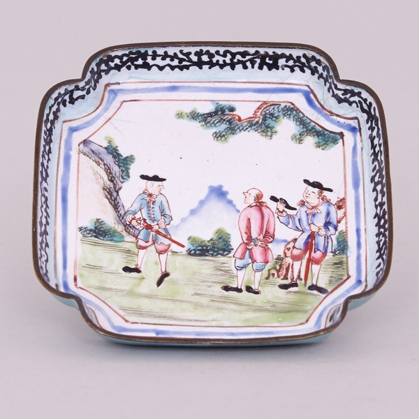 A CHINESE CANTON ENAMEL SQUARE TRAY, QIANLONG (1736 – 1795) - image 1