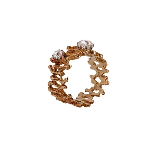 1970s diamond fine gold ring - image 2