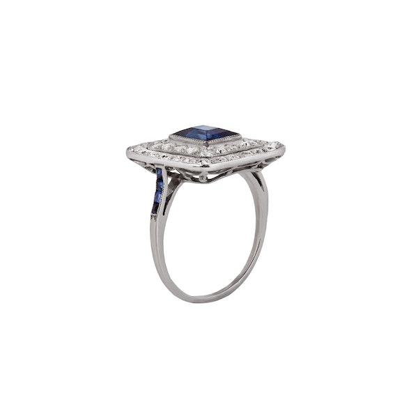 1920s sapphire diamond ring - image 2