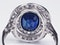 Belle epoque sapphire and diamond engagement ring  DBGEMS - image 5