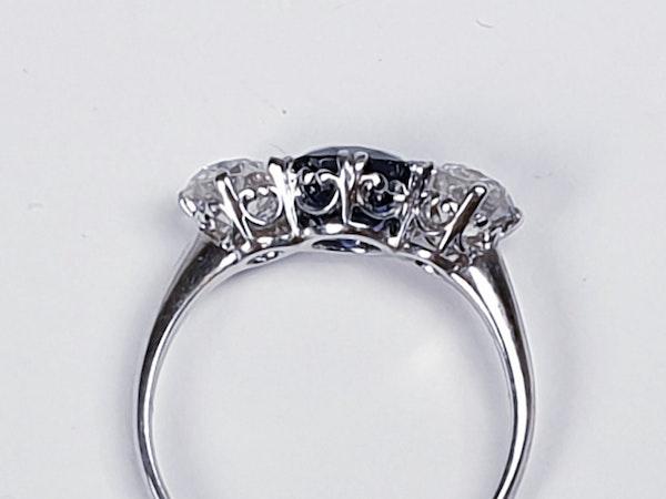 Art deco sapphire and diamond engagement ring 4775    DBGEMS - image 3