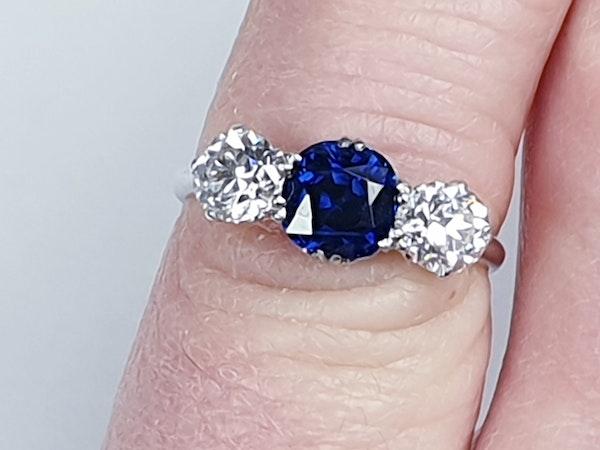 Art deco sapphire and diamond engagement ring 4775    DBGEMS - image 2