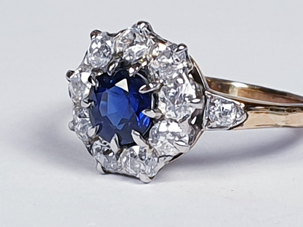 Antique sapphire and diamond engagement ring 4780   DBGEMS - image 4