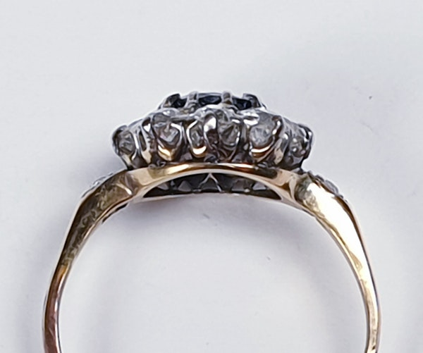Antique sapphire and diamond engagement ring 4780   DBGEMS - image 2