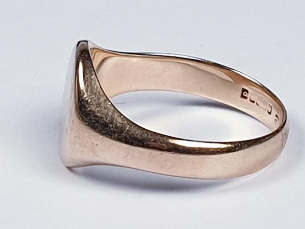 Plain gold signet ring 4201  DBGEMS - image 4