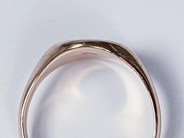 Plain gold signet ring 4201  DBGEMS - image 3