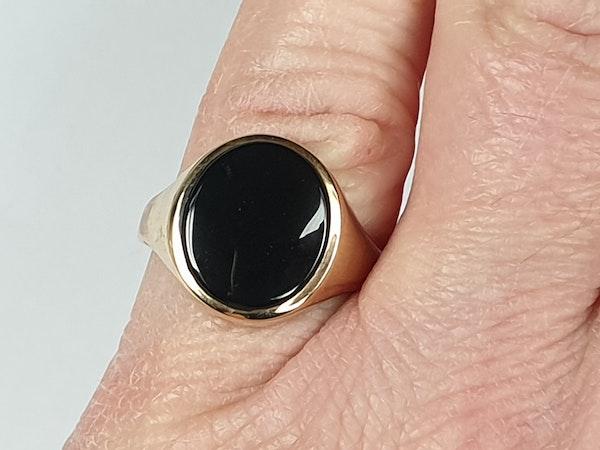 Onyx Signet Ring 3563  DBGEMS - image 2