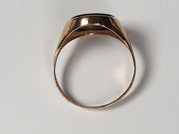 Onyx Signet Ring 3563  DBGEMS - image 3