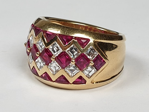 Ruby and diamond dress ring 4443   DBGEMS - image 5