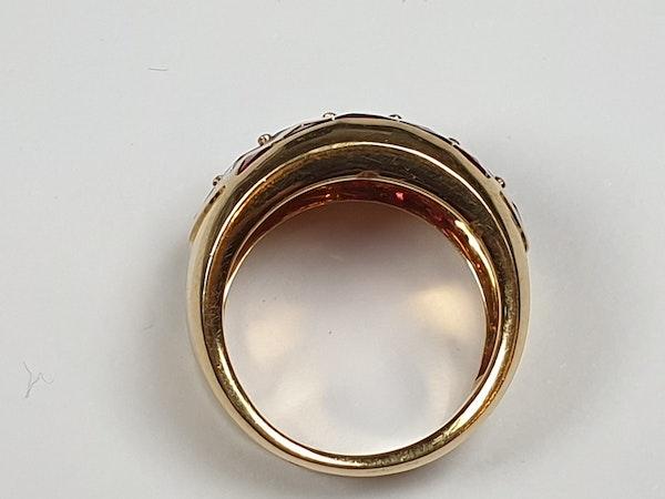 Ruby and diamond dress ring 4443   DBGEMS - image 3