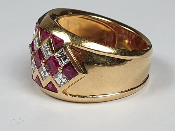 Ruby and diamond dress ring 4443   DBGEMS - image 4
