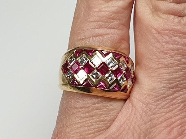 Ruby and diamond dress ring 4443   DBGEMS - image 2