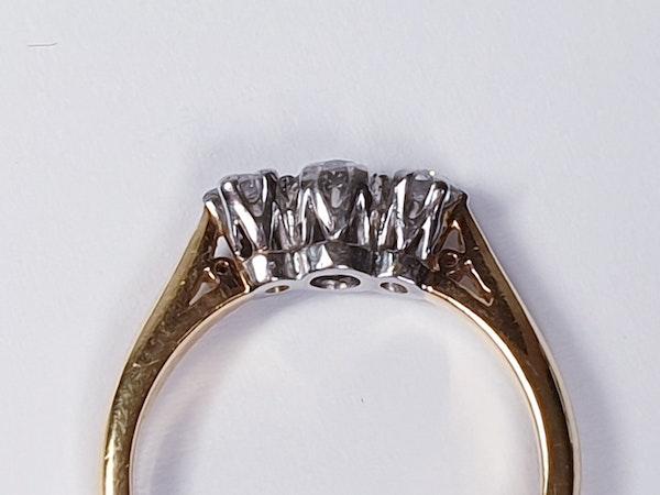 Three Stone Diamond Ring 2754  DBGEMS - image 2