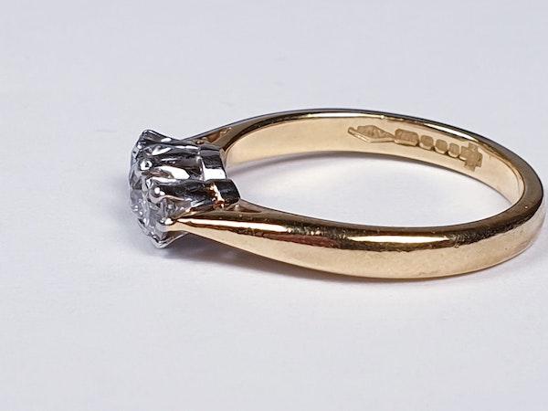 Three Stone Diamond Ring 2754  DBGEMS - image 3