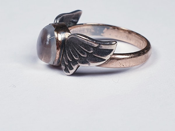 Arts and crafts Winged Moonstone Ring  DBGEMS - image 2