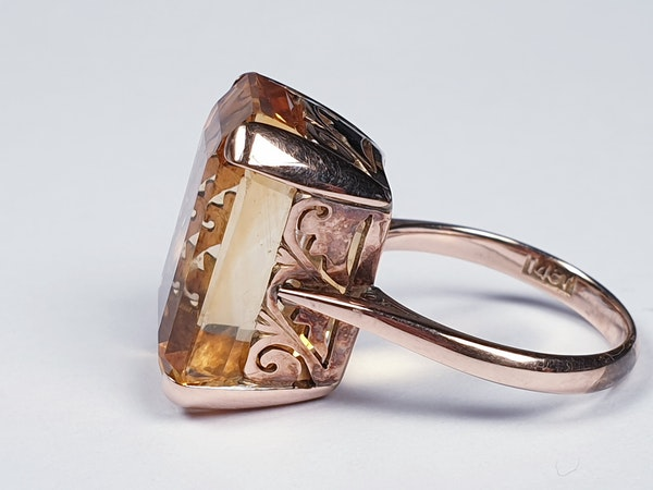 Intense Bright Yellow Citrine Ring  DBGEMS - image 2