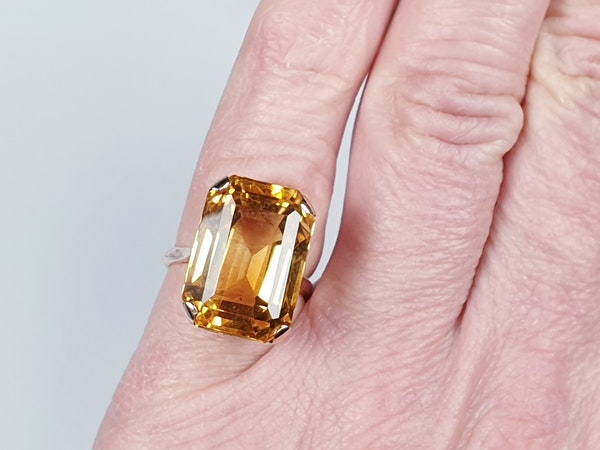 Intense Bright Yellow Citrine Ring  DBGEMS - image 4