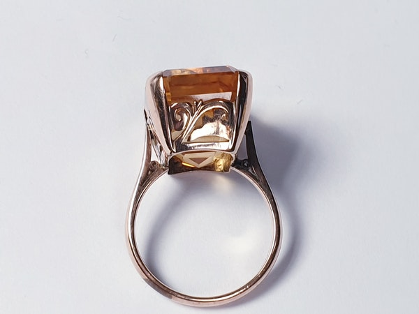 Intense Bright Yellow Citrine Ring  DBGEMS - image 5