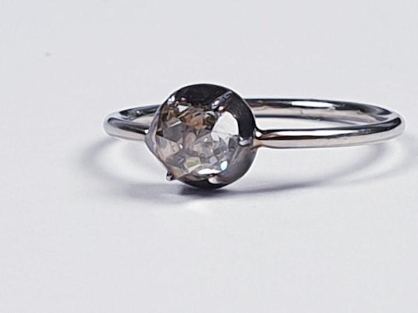 Georgian foiled rose cut diamond single stone ring  DBGEMS - image 3