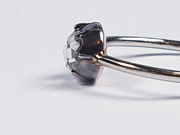 Georgian foiled rose cut diamond single stone ring  DBGEMS - image 2