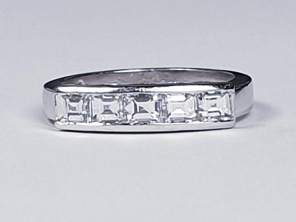 Square diamond line ring  sku 4408   DBGEMS - image 2