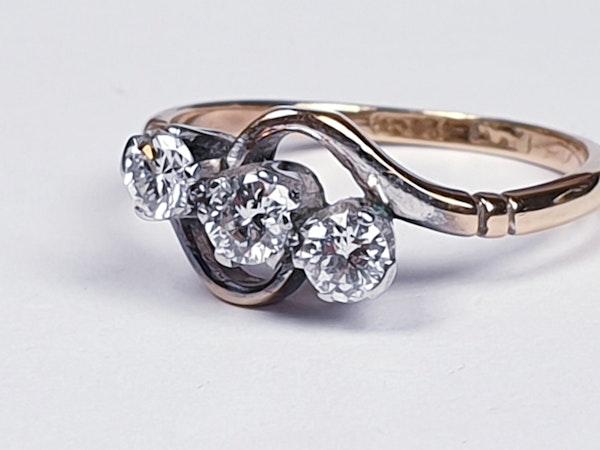 Edwardian Three Stone Diamond Ring 2190  DBGEMS - image 4