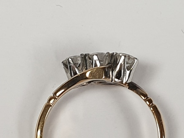 Edwardian Three Stone Diamond Ring 2190  DBGEMS - image 3