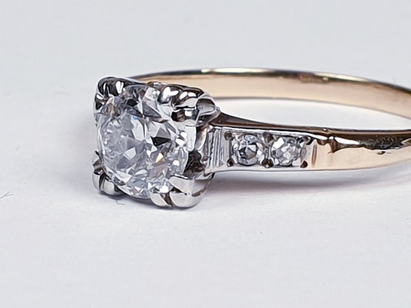 Art Deco Diamond and Gold Engagement Ring 3402  DBGEMS - image 3